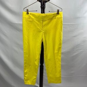 LOFT Marisa Fit Dress Ankle Pants Bright Yellow 6